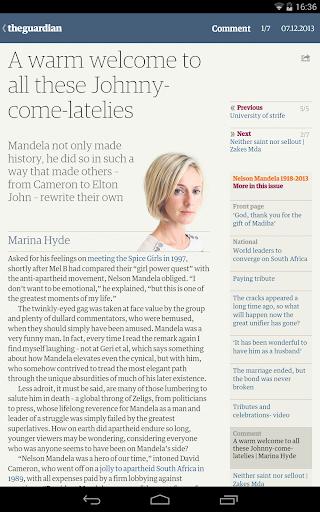 The Guardian daily edition screenshot 3