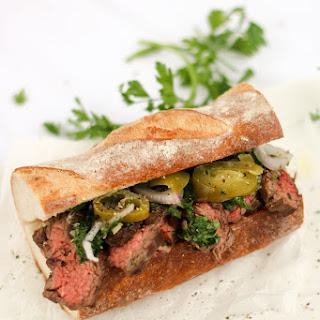 Skirt Steak Sandwich with Chimichurri