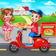 Bake Pizza Delivery Boy: Pizza Maker Games