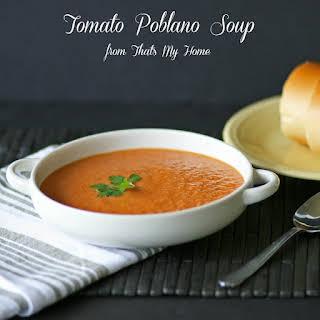 Tomato Poblano Soup.