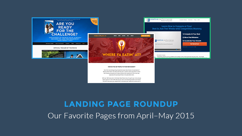 Three of the best landing pages LeadPages saw this month