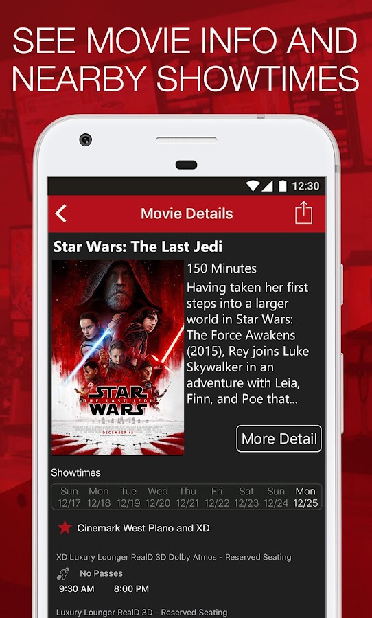 Cinemark Theatres- screenshot