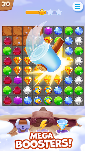 Pirate Treasures - Gems Puzzle  screenshots 2