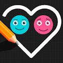 Brain Balls Game  -  Puzzle Star Love It Draw Line icon