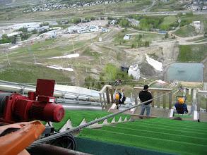 Photo: En yüksek rampadan tel üstünde makara ile aşağıya VINN!