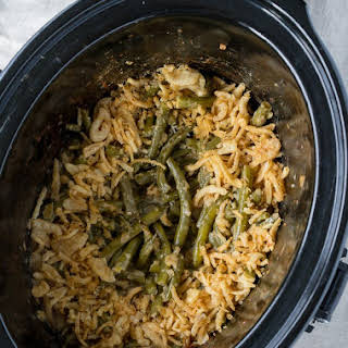Crock Pot Green Bean Casserole.