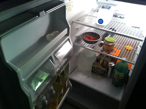 Photo: The sorry state of the fridge... but we got COFFEE!