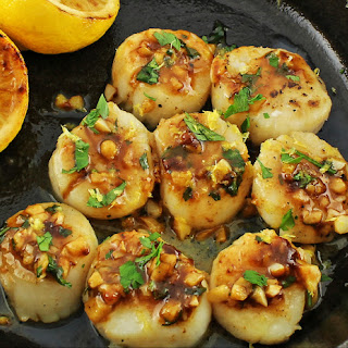 Seared Brown Butter Scallops