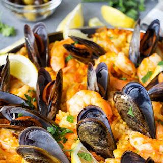 Spanish Seafood Paella.