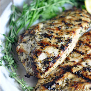 Grilled Chicken Breasts with Herbs and Lemon.