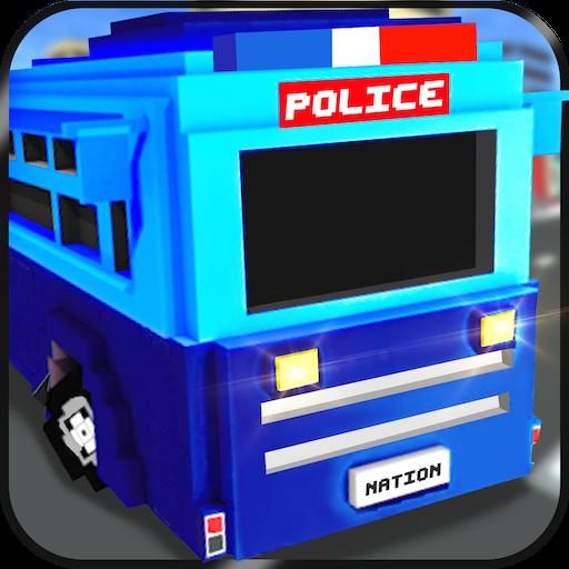 模拟のブロック状警察刑務所交通 LOGO-記事Game