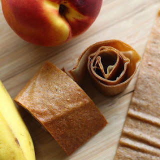Easy Fruit Leather Recipe for School Lunches | Banana Nectarine Roll Ups.