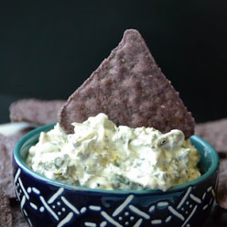 Seaweed Dip with Shark Fin Chips.