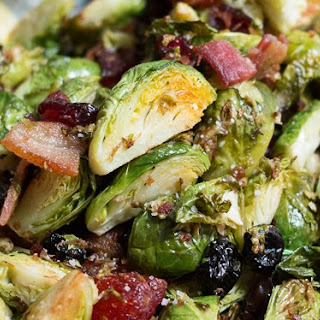 Roasted Bacon, Brussels and Berries