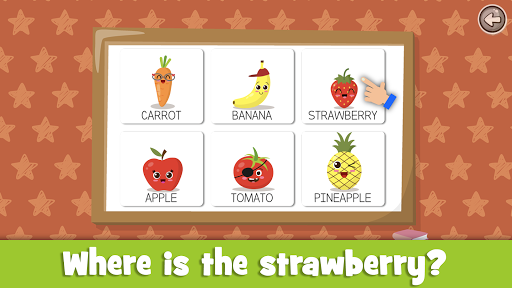 Learn fruits and vegetables - games for kids  screenshots 18