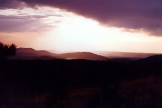 Photo: Scene from top of Parjarito Mountain, Los Alamos, 1996  KMH