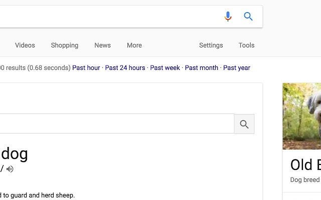 Google Search Time Options