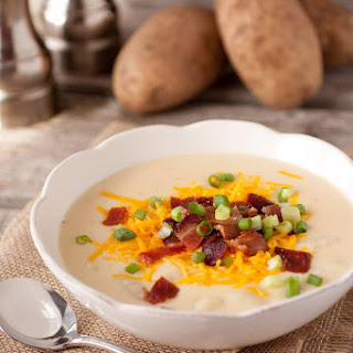 Cheesy Bacon Ranch Potato Soup.