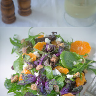 Citrus-EVOO Spring Salad Mix w/Kale Sprouts, Ojai Pixies & Sugared Pistachios