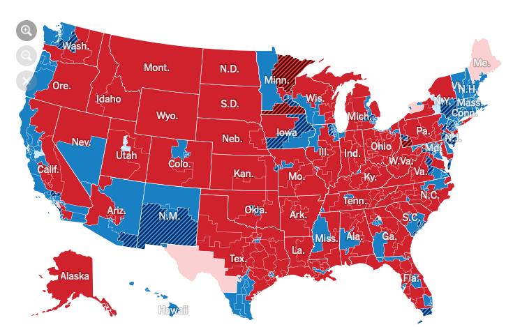 2018년 미국 중간 선거결과 카토그램