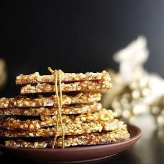 Crispy Sesame Brittle Thins Or Til Ki Gajak