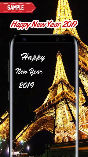 New Year 2019 Wallpaper (Eiffel) 2.0 screenshots 4