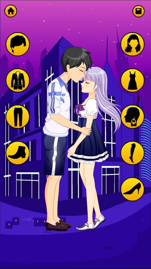Anime Cute Couple Dress Up Games For Girls & Boys - Android Apps ...