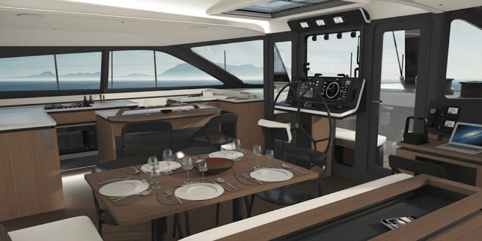 Gunboat 68 interior salon