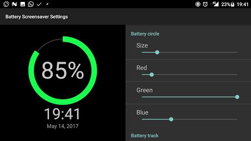 Battery Screen Saver - Customizable Daydream by Zas (Google