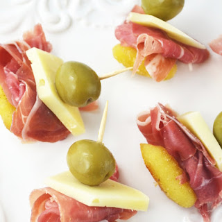 Fried Gnocchi, Prosciutto and Pecorino Appetizers.