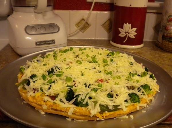 Veggie Hummus Pizza Recipe