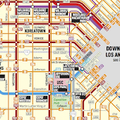 Los Angeles Transport Map