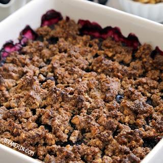 Paleo Blueberry Crisp (vegan, grain-free, gluten-free, dairy-free).