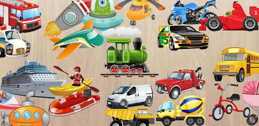 Cars & Vehicles Puzzle for Kids 🚁🚔🚒🚊🏎️🚕 - by Abuzz
