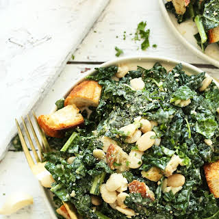 White Bean Kale Salad with Tahini Dressing.