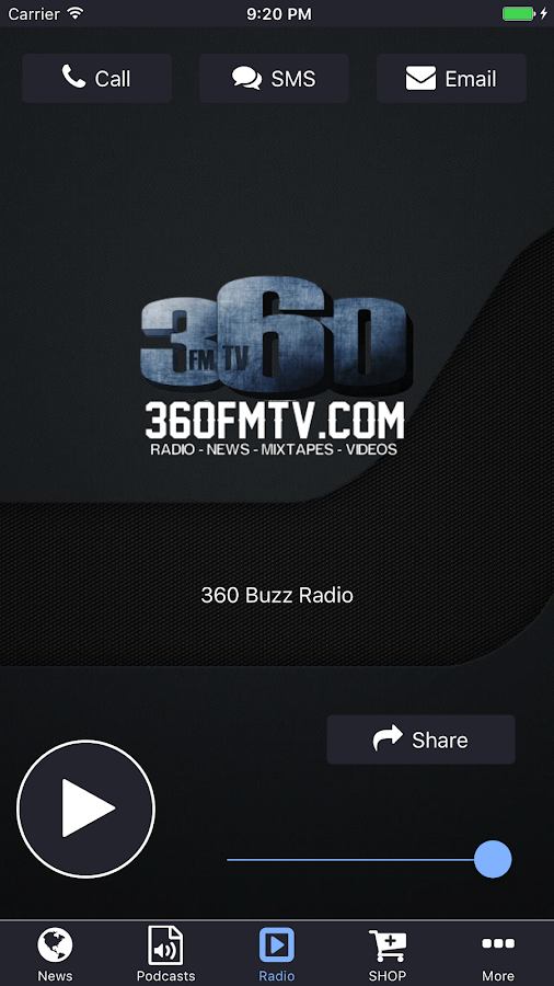 360 Buzz Radio- screenshot