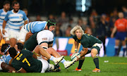 Faf de Klerk of South Africa during the Rugby Championship match between South Africa and Argentina at Jonsson Kings Park on August 18, 2018 in Durban, South Africa.