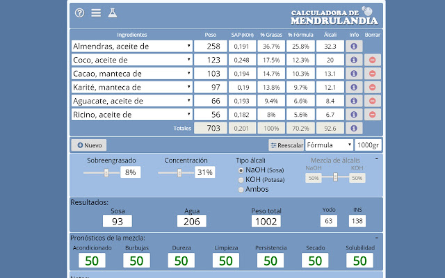 Calculadora de mendrulandia (Extensión)