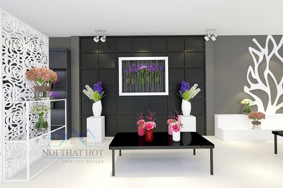 thiết kế cửa hàng hoa tươi hiện đại đẹp mắt