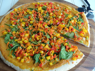 Pumpkin Sauce Pizza An Veggies Recipe