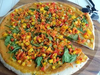 Pumpkin Sauce Pizza An Veggies Recipe