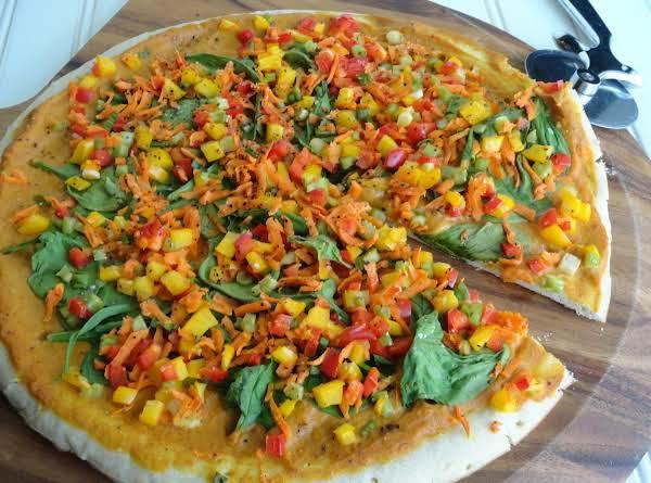 Pumpkin Sauce Pizza An Veggies