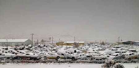 Photo: A parking lot, I think, in New Mexico. Amtrak Southwest Chief.  #amtrak  #newmexicophotography  #newmexico