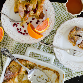 Dairy Free Challah French Toast Casserole.