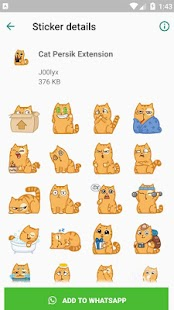 Cat Persik Stickers - WAStickerApps Screenshot