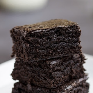 Simple Rich Chocolate Brownies.