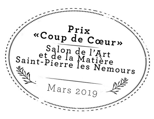 PRIX coup de coeur Salon Art et Matiere Saint Pierre les Nemours 2019 jeanne Papa