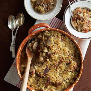Cassoulet au Canard (Baked White Bean and Duck Casserole)
