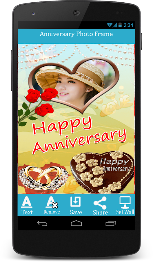 anniversary photo frames screenshot