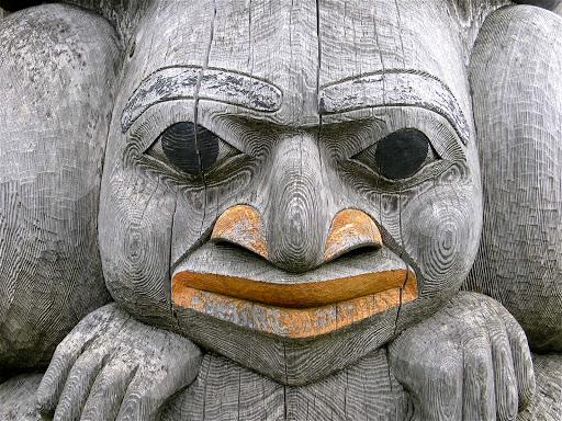 Totem-in-Alaska - A totem in Alaska.